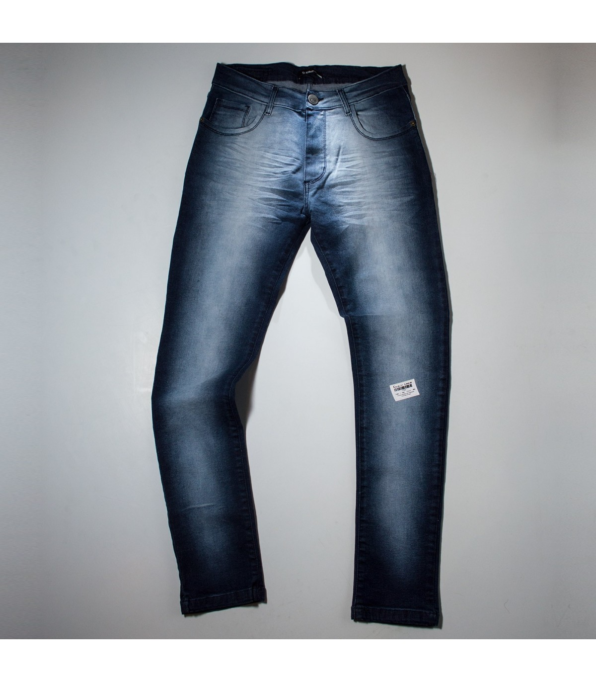 Hombre Pantalon Jean Elastizado Localizado Arrugas